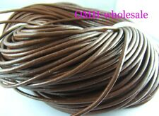 100M Brown Real Leather Thread Cord For Necklace Bracelet without clasps Strands