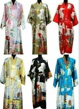 Oriental Chinese Kimono Style Dressing Gown Bath Robe Pajamas Dress Sleepwear