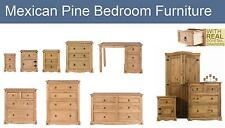 Bedroom Furniture Set Chest Bedside Wardrobe Mexican Solid Pine Furniture