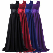 Plus Long Chiffon Bridesmaid Cocktail Formal Evening Prom Party Maxi Dresses