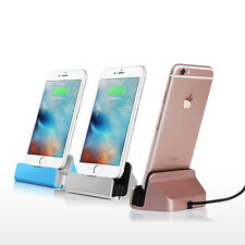 Desktop USB Charging Dock Cradle Sync Data Base Charger For iPhone 5 6 6S 7 Plus
