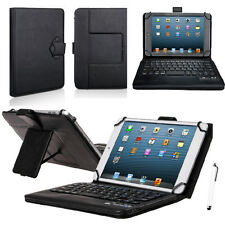 "Wireless Bluetooth Keyboard with PU Leather Stand Cover Case For 7""- 8"" Tablets"