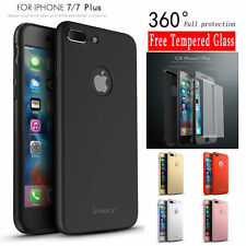 IPaky Ultra Thin 360 Full Case+ Glass Screen Protector Cover For Iphone 7 7 Plus