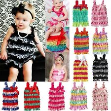 Baby Girls Ruffle Lace Petti Romper Jumpsuit Newborn Infant Toddler Photo Prop