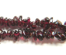 Natural Indian Garnet Gemstone Uncut Chip Beads Loose 33 inch Strand