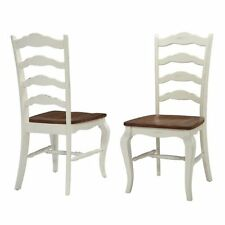 Oak Rubbed Distressed Wood Country Dining Chair Set of 2 Kitchen Furniture