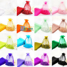 50 X 7*9cm Organza Pouch Jewelry Gift Candy Wedding Party Favor Decoration Bags