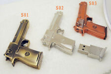 Genuine New Metal Gun Model USB 2.0 Flash Memory Stick Drive 4GB-32GB