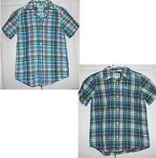 M 7 - 8  or L 10 - 12  NEW! BOYS THE CHILDRENS PLACE plaid dress SHIRT short slv