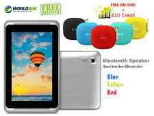 "7"" 3G SIM + WIFI ANDROID Tablet UNLOCKED Cheap Basic & Bluetooth Speaker"