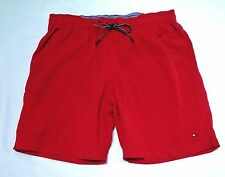 Tommy Hilfiger Men's New Lined Red Swim Trunk Shorts size Large xLarge*