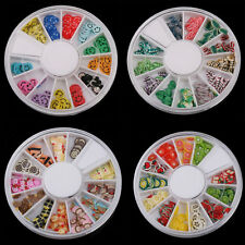 Fimo Acrylic Nail Art Decoration Tips 120 PCS Multicolors Slice Manicure Wheel