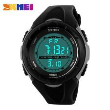 SKMEI Waterproof Child Boy's Sport Stopwatch LED Digital Date Kids Watch B9V7