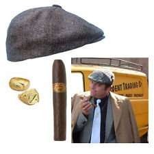 Del Boy Fancy Dress Unisex Adults Party Rings Hat Cigar Only Fools And Horses