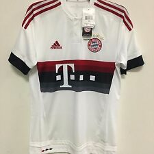 adidas FC Bayern Munich Official 2015 2016 Away Soccer Football Jersey