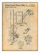 Smoking Device Water Pipe Bong Patent Print Art Drawing Poster 18X24