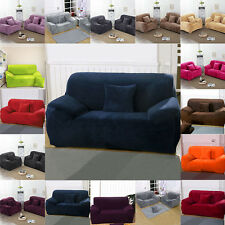 2-Seater Stretch Thickening Plush Slipcover Sofa Armchair Cover Protector Couch