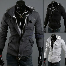 Fashion Men's Stylish Slim Fit Designed Hooded Cardigan Coat Jacket Warm Tops 82