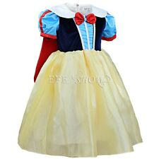 Girl Kid Snow White Princess Cosplay Costume Halloween Fairytale Party Ball Gown