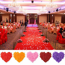 100pcs Silk Rose Flower Petals For Engagement Wedding Party Confetti Table