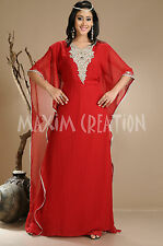New Arabian Farasha Fancy Maxi Party Wear Evening Gown Islamic Khaleeji 1310
