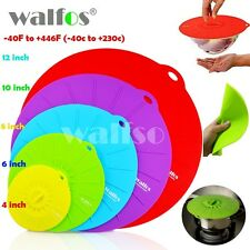 WALFOS Set of 5 silicone Microwave  bowl cover cooking pot pan lid Cover-Silicon