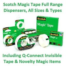 Scotch Magic Tape Invisible Tape / Q-Connect Full Range Dispensers All Sizes NEW
