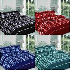 Check Checked 5PC Bed in a Bag Finley Duvet Cover Set &Pillowcase+Runner+Cushion