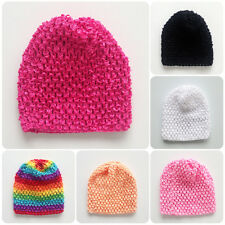 Handmade Girl Infant Toddler Baby Comfy Crochet Knit Costume Beanie Cap Hat SALE