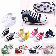 New Toddler Newborn Shoes Baby Infant Kids Boy Girl Soft Sole Canvas Sneaker Hot
