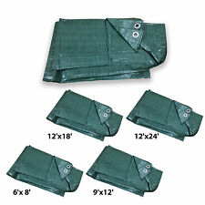 4 Sizes of Heavy Duty Tarpaulin Green Waterproof Strong Cover Ground Sheet Tarp