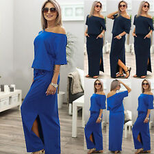 Sexy Women Casual Party Evening Cocktail Bodycon Long Maxi Dress Plus Size 8-14