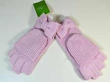 NWT KATE SPADE SOLID BOW POP TOP WINTER SNOW GLOVE MITTEN ONE SIZE KS1000532