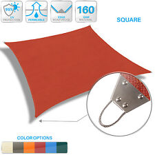 Metal Reinforced Edge Steel  Sun Shade Sail Outdoor Canopy Patio Lawn Pool Yard