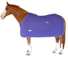 CARIBU Polar Fleece Horse Cooler Rug,  Snug 300sm Fleece. Purple