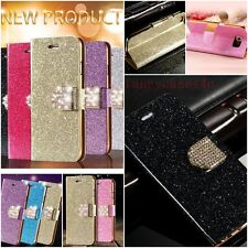 New Luxury Bling PU Leather Magnetic Flip Stand Wallet Cover Case For iPhone