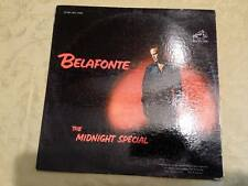 lot of 2  Harry Belafonte LP Records The Midnight Special & Evening With Vinyl +
