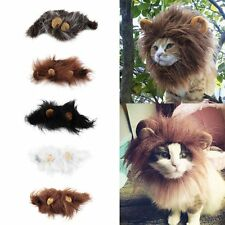 Pet Hat Lion Mane Wig For Cat Halloween Fancy Dress Up With Ears Festival New HF
