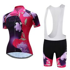 Teleyi Women Bicycle Cycling Clothing Ropa Ciclismo Summer Cycling Jersey Sets