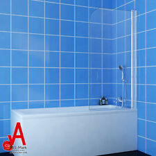 800x1450mm Over Bath Panel Square Shower Screen Glass with Various Glass Styles