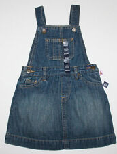 baby Gap NWT Girls  Blue Denim Overall Jumper Dress w/ Diaper Cover