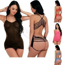 Women Sexy Lingerie Lace Dress Underwear Babydoll Sleepwear See Through G-string