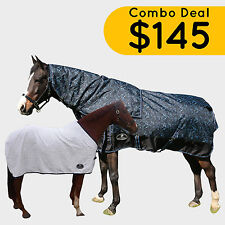 Unicorn Paddock 1200D 300G Winter Horse Rug W/ Under Rug- Combo Deal, 4'9-6'9