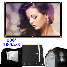W78t Portable HD Movie Projection Projector Screen Main 100inch 16:9/4:3 New