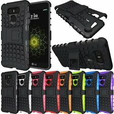 Hybrid Heavy Duty Shockproof Rugged Kickstand Matte Phone Case Cover For LG G6