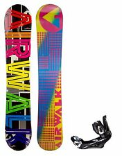 NEW $600 Mens Airwalk Word Snowboard + Stealth Bindings Size 150CM Camber Ride