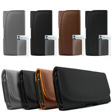 Premium PU Leather Horizontal Belt Pouch Holster Case For HTC Desire 310