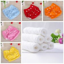 New Adjustable 10pcs+10 INSERTS Reusable Lot Baby Washable Cloth Diaper Nappies