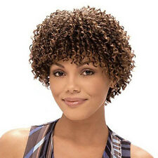 Short Afro kinky Curly Wig For Black Women short bob curly Wig Blonde brown Hair