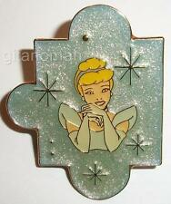 Disney Just the Girls Puzzle Piece Set Blue Princess Cinderella Sparkle Pin